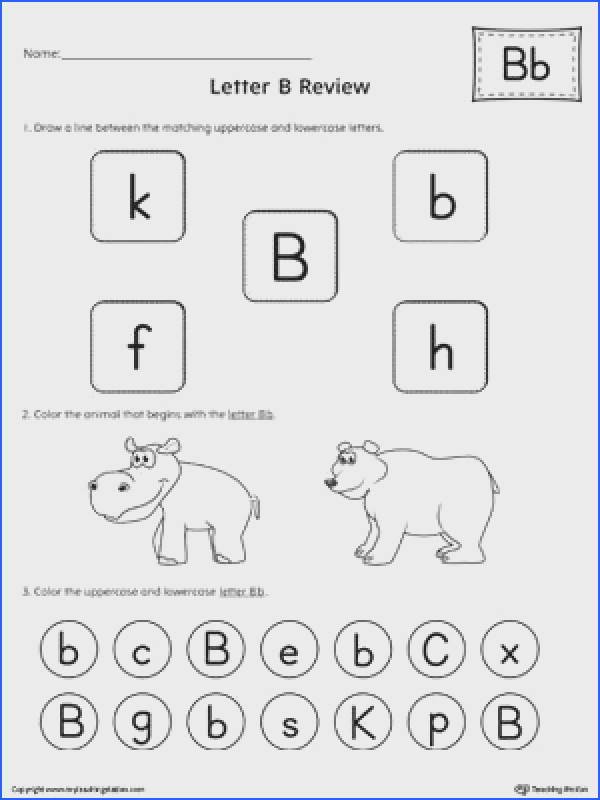 FREE All About Letter B Worksheet Learn and practice identifying the