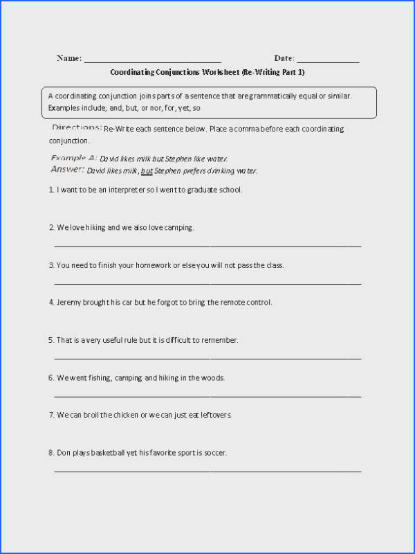 8 Best Conjunctions Images On Pinterest Image Below Coordinating Conjunction Worksheet