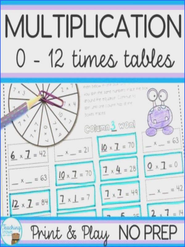 Multiplication Games and Activities Bundle Multiplication WorksheetsMultiplication TablesMathsMath