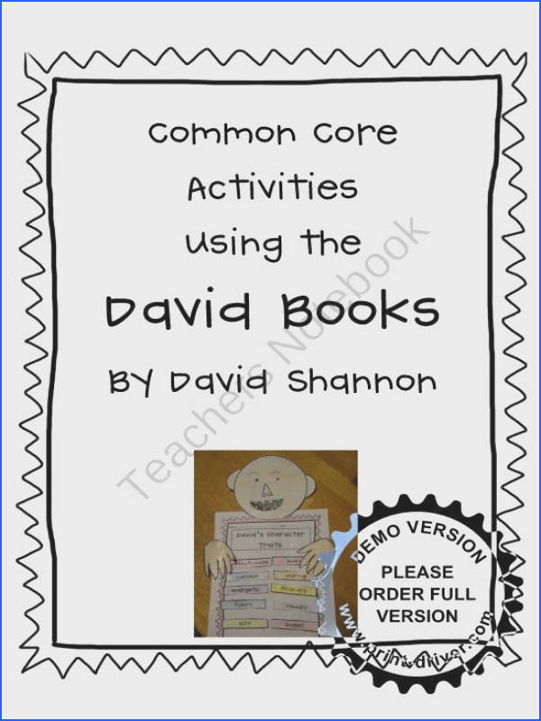 Point of View and Other mon Core Activities Using David Books product from TheVeryBusyFirstGraders on TeachersNotebook