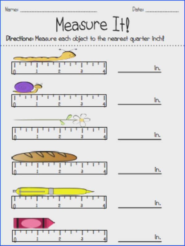 This freebie contains worksheets for helping students measure to the nearest inch half inch