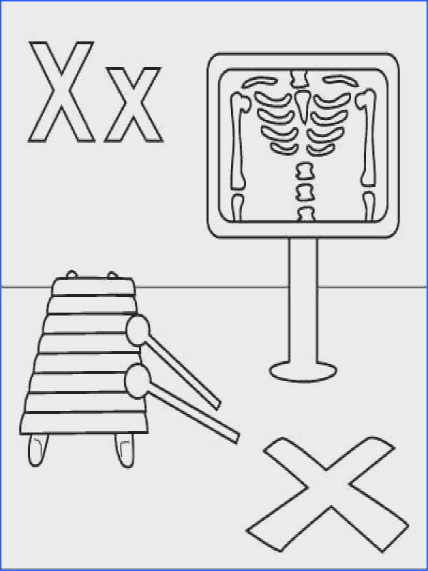 """Letter X coloring page X ray Xylophone """"X"""" marks the"""