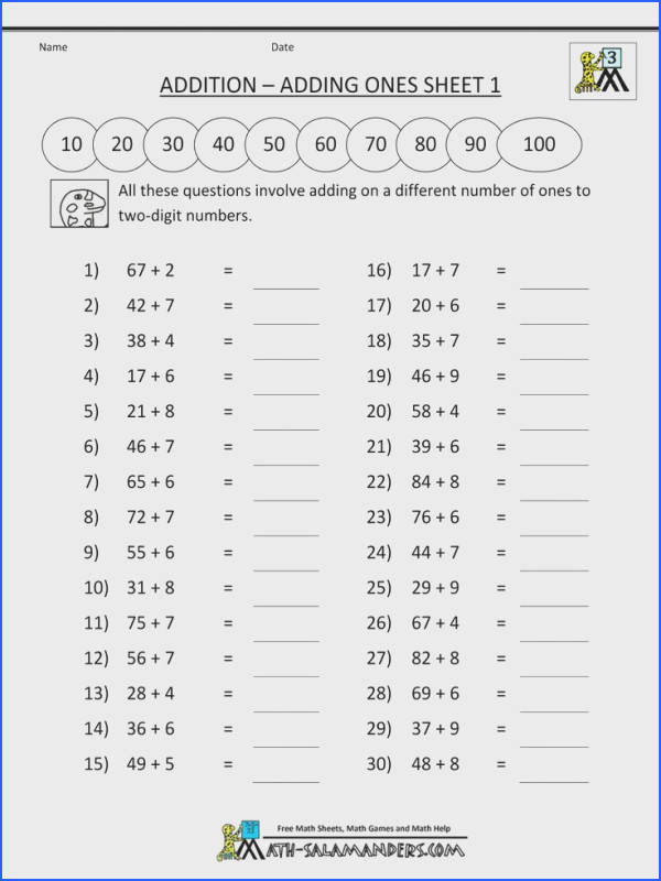 Math Worksheets To Print For A Third Grader math worksheets to print for a third