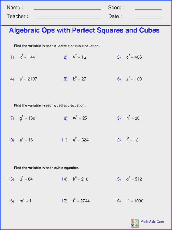 These Exponents and Radicals Worksheets are perfect for teachers homeschoolers moms dads and children looking for some practice in Exponents and