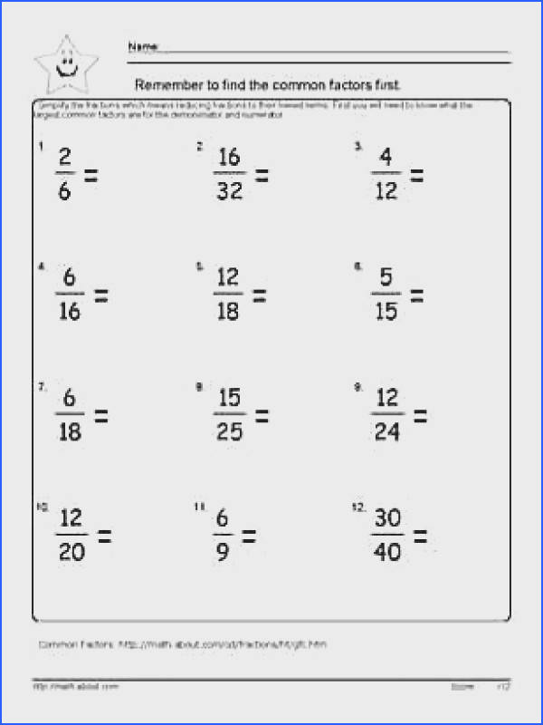 Reduce Fractions