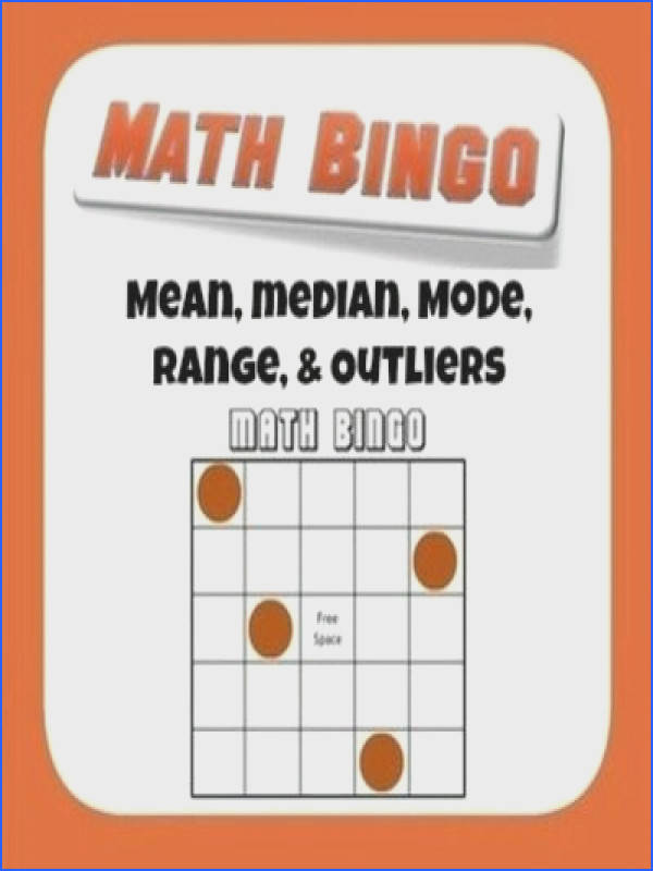 Mean Median Mode Range and Outlier Bingo from Mathematic Fanatic on TeachersNotebook