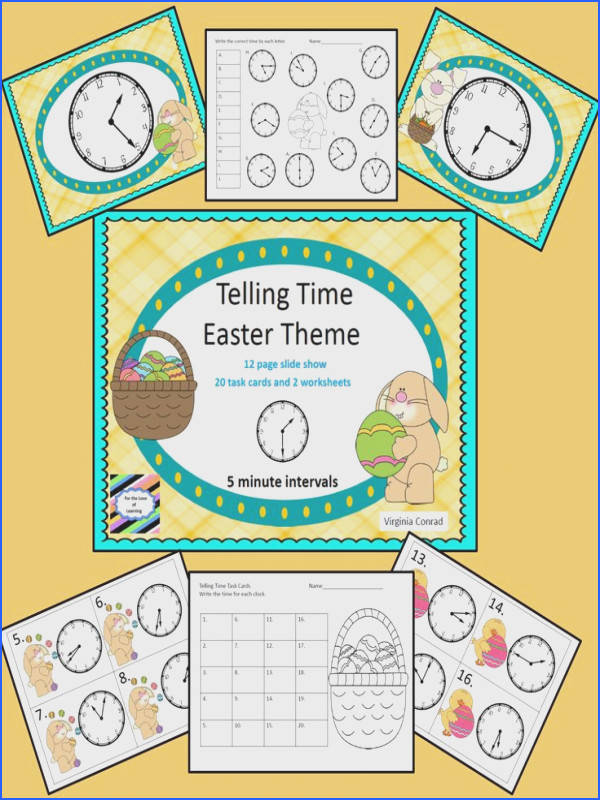 Easter goo s to your kiddos telling time to five minute intervals slide