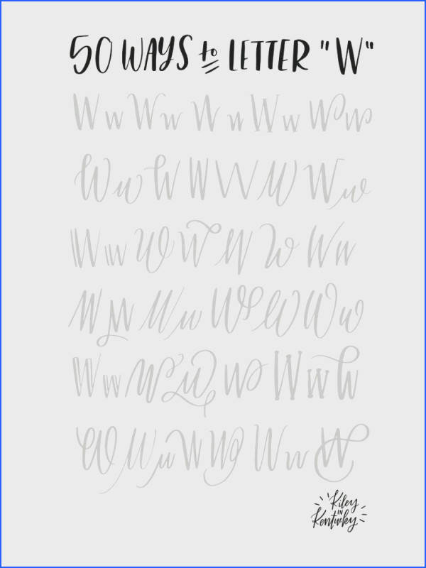 """50 ways to letter """"W"""""""
