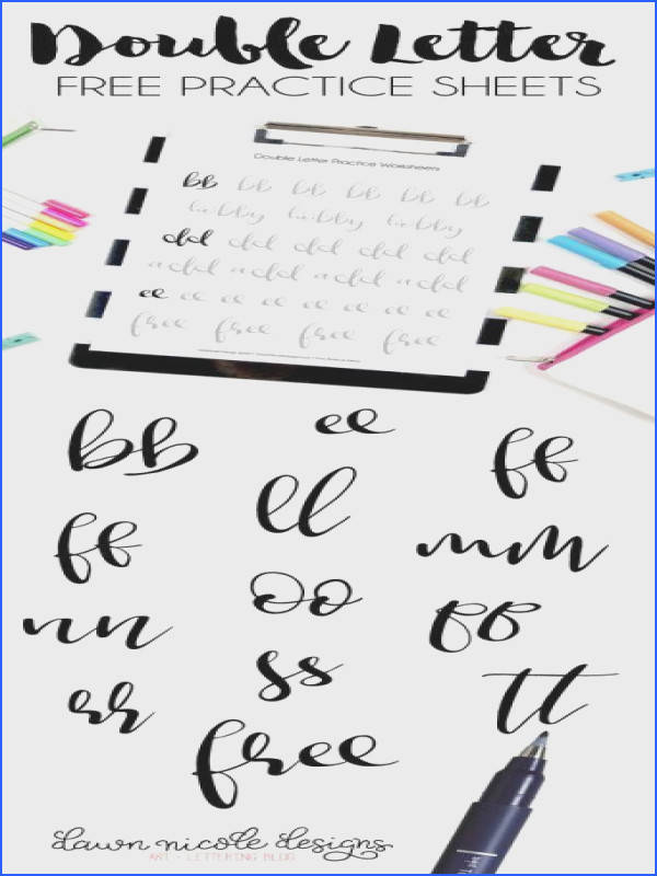 101 sheets of practice drills letters number and words to really start on that lettering journey Use Tombow markers …