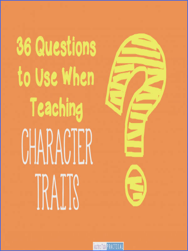 A huge variety of ideas for teaching character traits in your upper elementary classroom Includes