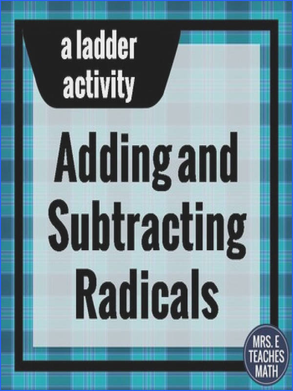 Add and Subtract Radicals Ladder Activity