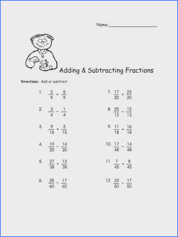 Adding Andng Fraction Worksheets Subtract Algebraic Fractions Worksheet Tes And Subtracting Word Problems 5th Grade With