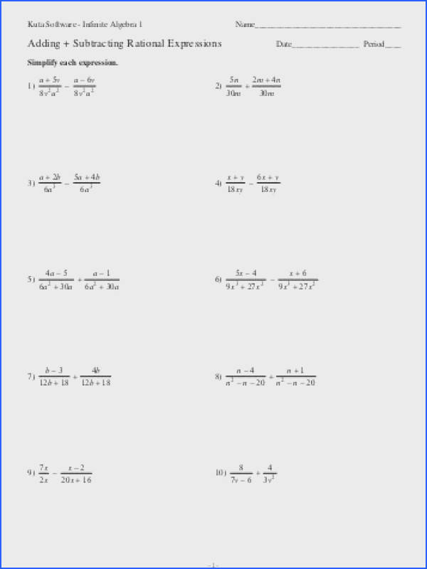Adding And Subtracting Rational Numbers A Number Line Worksheet