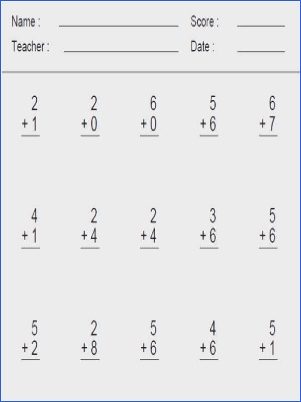 Adding And Subtracting Worksheets For 1St Grade Worksheets for all Download and Worksheets