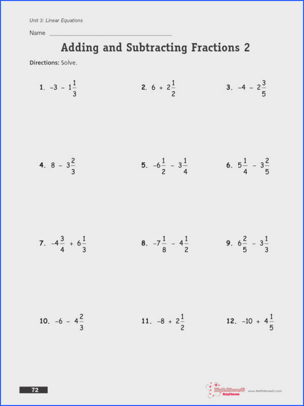 Adding And Subtracting Fractions With Like Denominators Worksheets 4th Grade The Same Denominator Worksheet Ks2 For