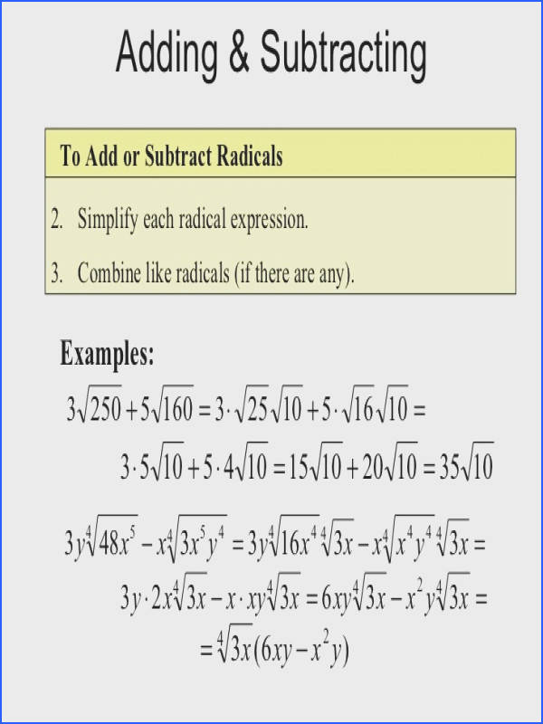 Adding Variables With Exponents Adding Variables With Exponents Simplifying Radical Expressions Rational Equations 11 728
