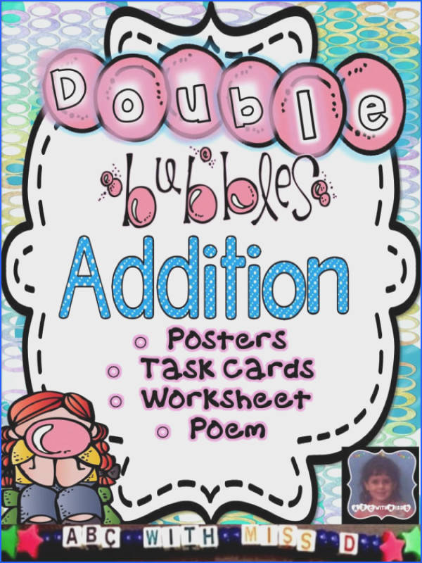 Addition Doubles Posters Math Poem Worksheet and Flashcards for Classroom and Homeschool