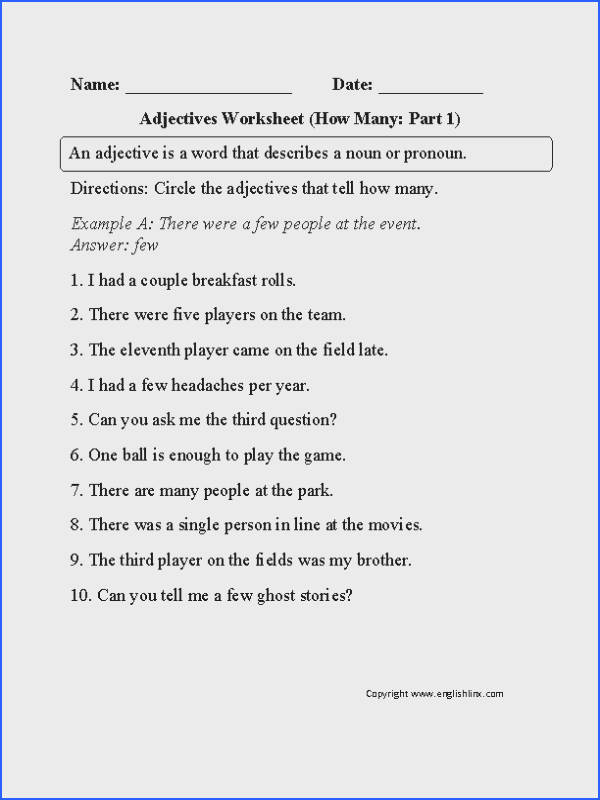 Free Adjectives Worksheets for use at school or home An adjective is a word that describes a noun or pronoun It is used as a describing word