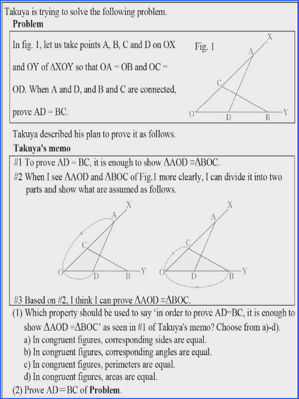 Advanced geometry problems for Grade 8 students Table 3 Results of the advanced geometry problems