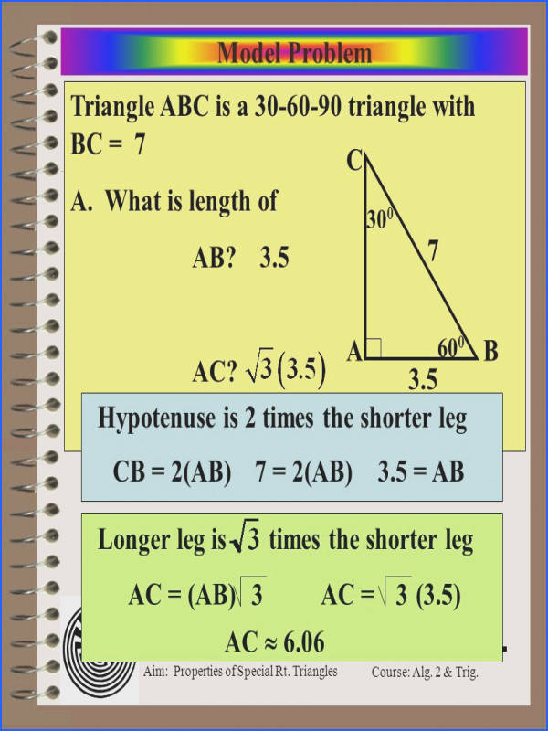 12 Triangle ABC is a 30 60 90