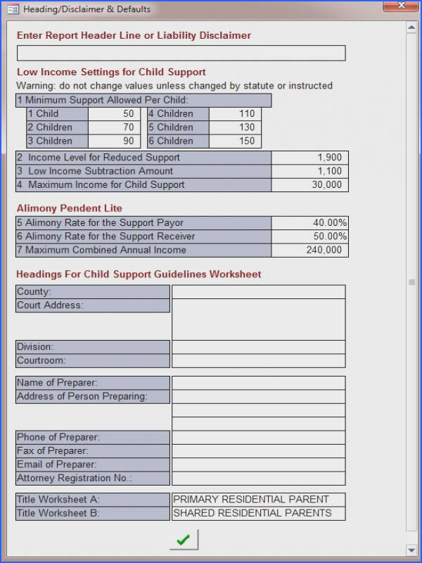 child support obligation worksheet photos mindgearlabs