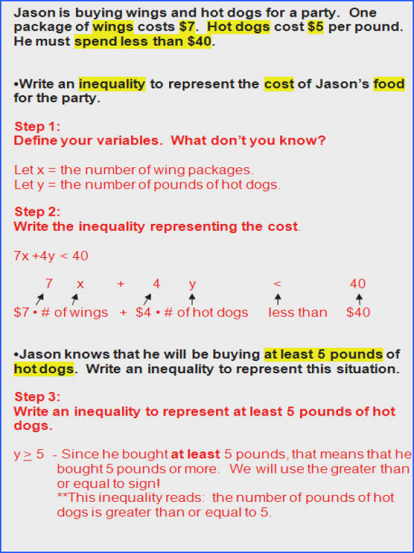 Algebra 1 Word Problems Worksheet with Answers Worksheets for All Image Below Inequality Word Problems Worksheet