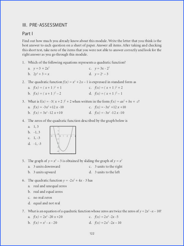 Endearing Algebra 2 Chapter 5 Quadratic Equations And Functions Answers For Grade 9 Mathematics Unit