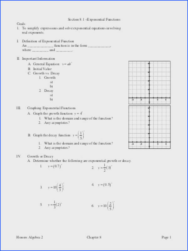 Honors Algebra 2 Chapter 8 Page 3