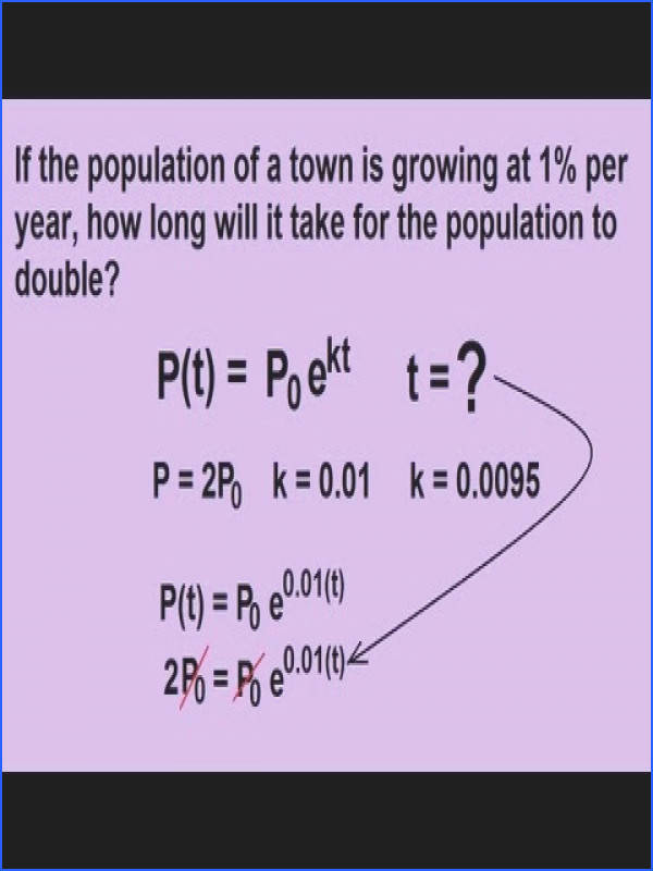 Algebra Exponential Growth and Decay Word Problems 3 of 7 Population Growth