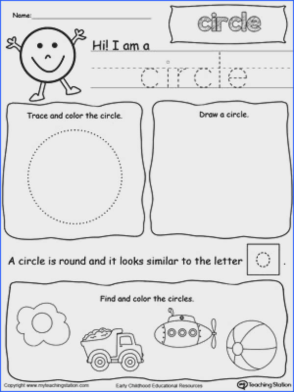 All About Circle Shapes Shapes Worksheet KindergartenTracing
