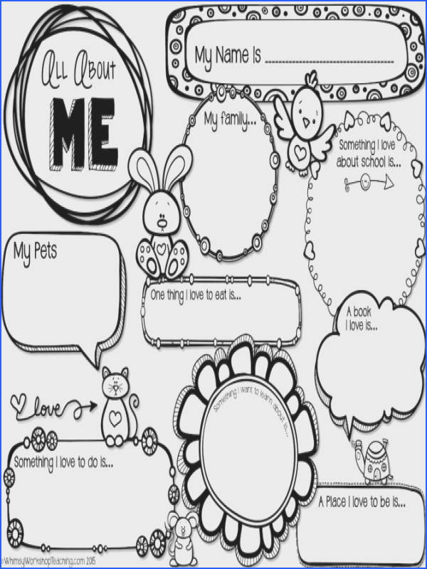 All About Me Worksheet For Middle School Students Worksheets for all