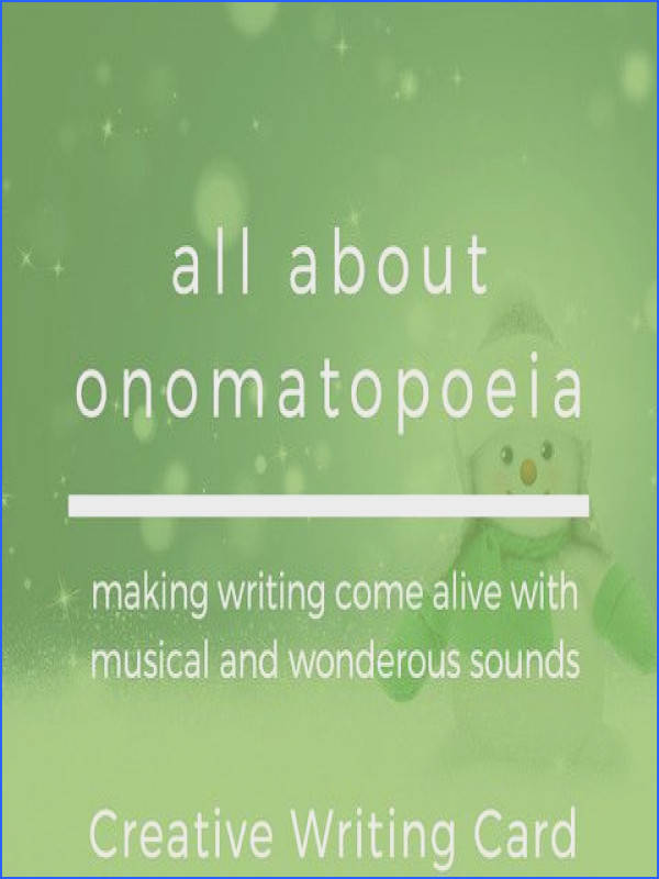 All About omatopoeia Worksheet