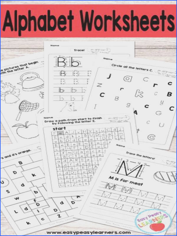 Alphabet Worksheets Tracing Identifying Letters and More