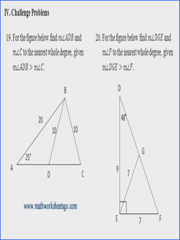 Example challenge problem from worksheet
