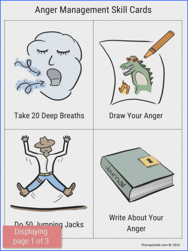 Anger Management Skill Cards Preview