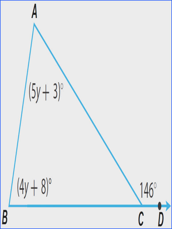 Find m∠A and m∠B in the triangle given below