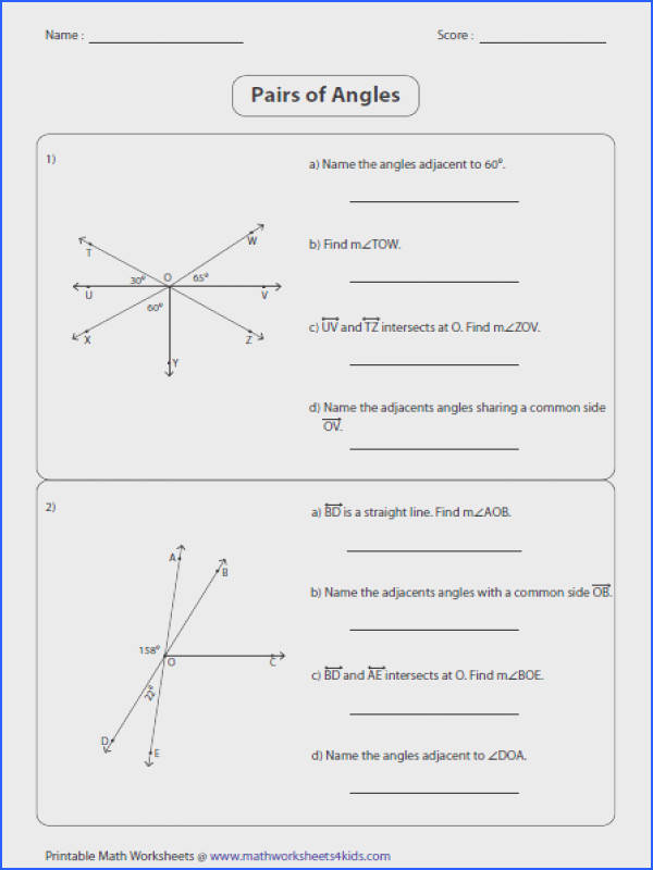 Angle Pair Relationships Worksheet 1 5 everybody is a genius angle pairs kudotest