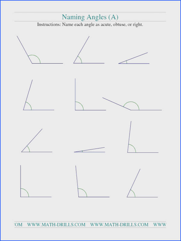 Angles Worksheets 3Rd Grade Worksheets for all Download and Worksheets