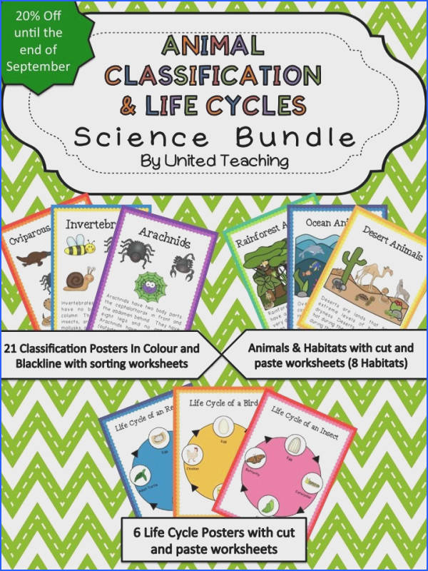 Animal Classification & Life Cycles Science Bundle f until the end of September