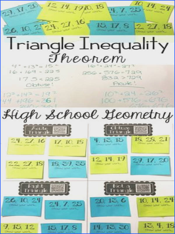 Pythagorean & Triangle Inequality Theorems Card Sort