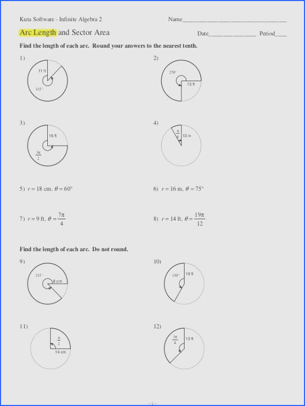 Area of Sector Worksheet by HolyheadSchool Teaching Resources TES