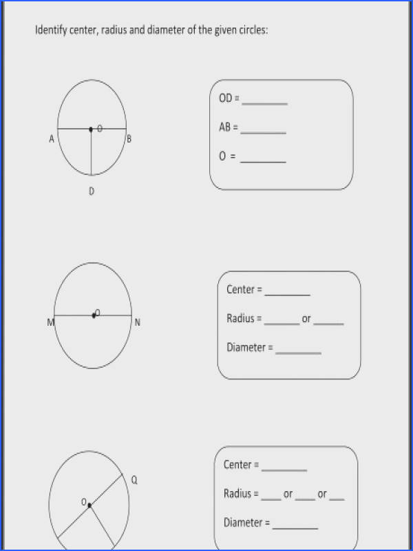 basic circle worksheets math charts pinterest area and perimeter word problems e c58d6a8739e25f0c08d88 a part of under