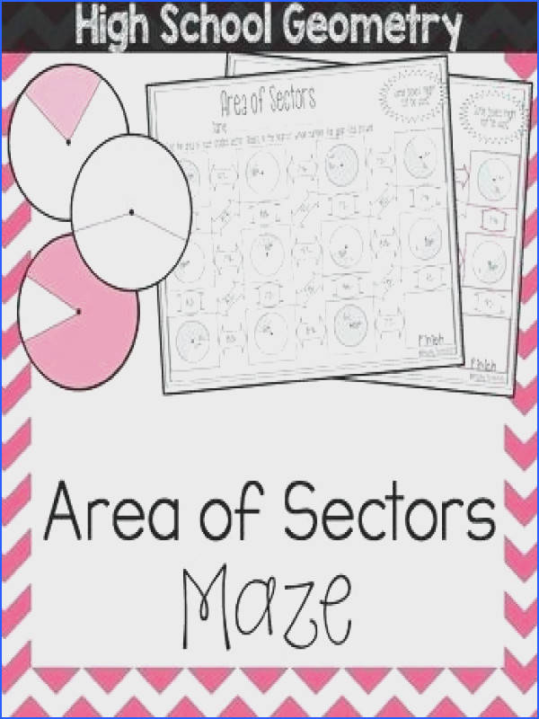area of sector worksheet to her with area of sectors maze stunning arc length sector area worksheet