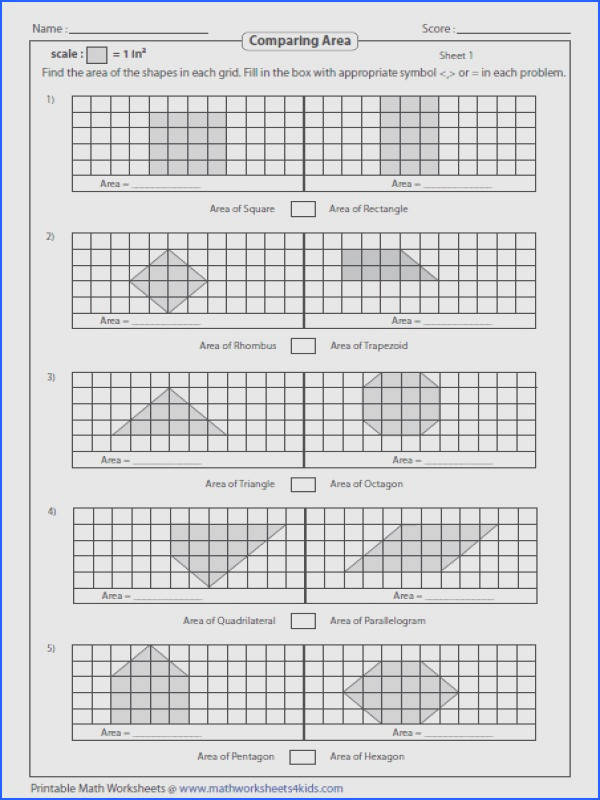 Area Worksheets 3rd Grade Gallery Area Worksheets 3rd Grade paring Capture Any 2 Shapes