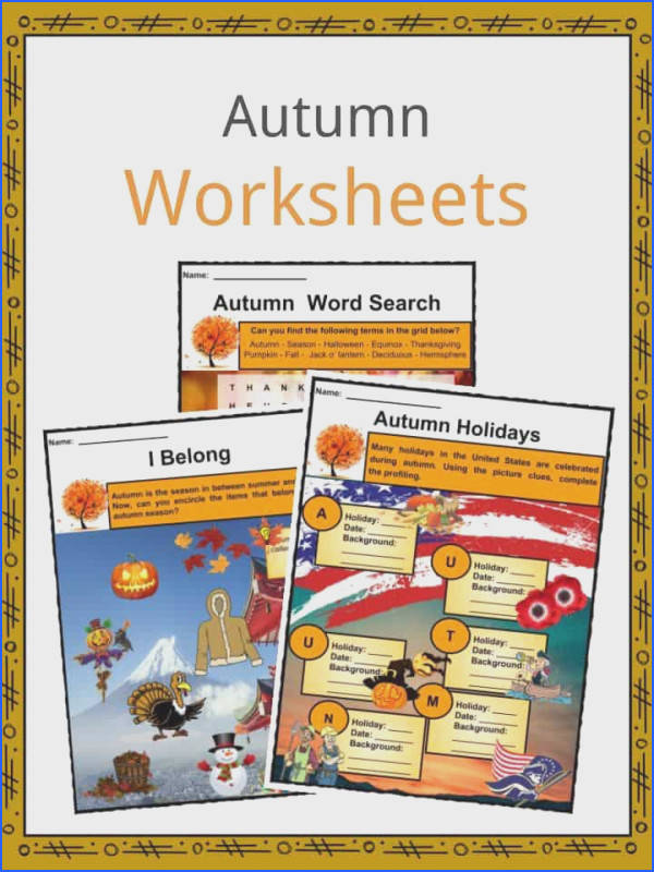 Download the Autumn Facts & Worksheets