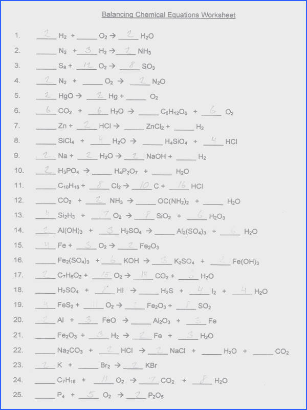 26 Balancing chemical equations answers well Balancing Chemical Equations Answers Homework Help Mistake Grades Easy
