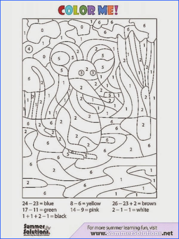 Basic Algebra Coloring Pages Worksheets for all Download and Worksheets