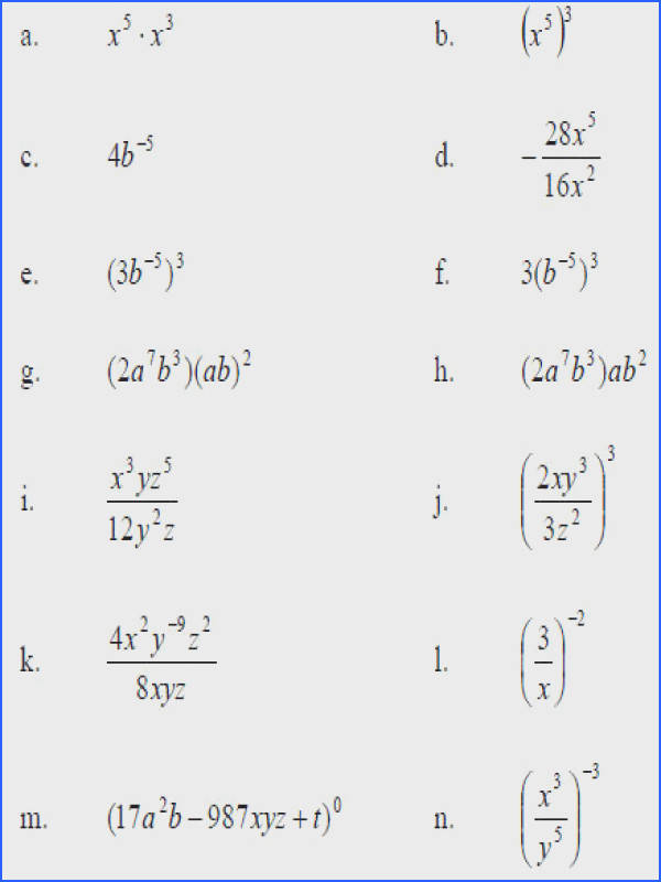 Simplifying Exponents Worksheet Switchconf