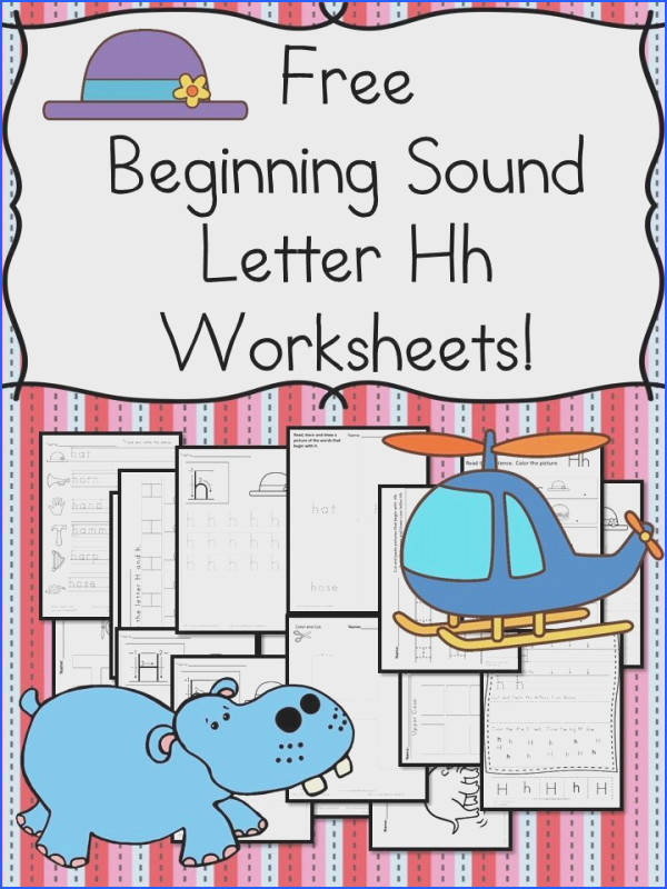 Beginning Sounds Letter H Worksheets Free and Fun