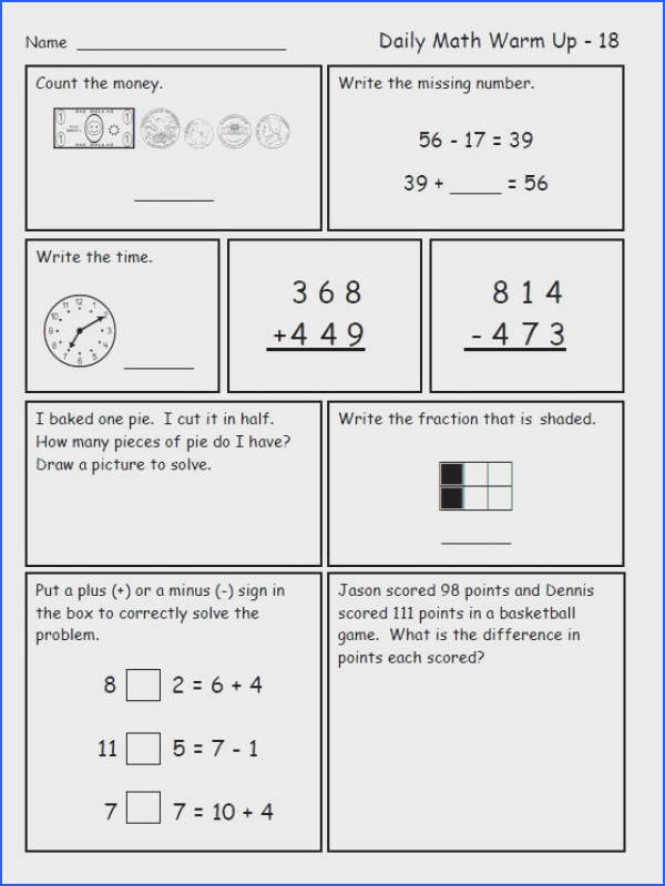 Third Grade Math Review Worksheets Worksheets for all